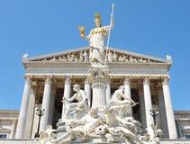 Costruzione austriaca del Parlamento a Vienna fotografia stock