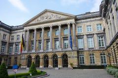Costruzione belga del Parlamento fotografia stock