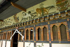 costruzione Bhutanese stile, Thimphu, Bhutan Immagini Stock Libere da Diritti