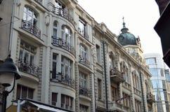Costruzione bianca a Belgrado Fotografie Stock Libere da Diritti