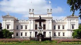 Costruzione bianca dell'università di Lund stock footage