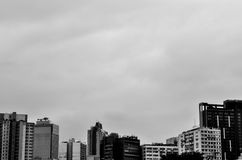 Costruzione in in bianco e nero Fotografie Stock