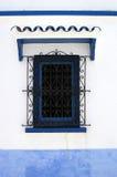 costruzione blu delle finestre fotografia stock