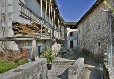 Costruzione in Borgo Somp Cornino Immagini Stock Libere da Diritti