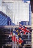Costruzione Bruxelles Belgio Europa del Parlamento dell'Eu immagini stock