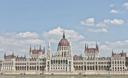 Costruzione Budapest del Parlamento Fotografia Stock Libera da Diritti