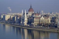 Costruzione Budapest del Parlamento Immagini Stock Libere da Diritti