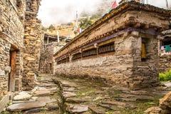 Costruzione buddista per le ruote pregare Fotografia Stock