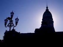 Costruzione Buenos Aires del congresso Immagini Stock