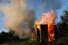Costruzione Burning Fotografia Stock