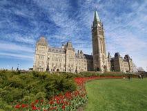 Costruzione canadese del Parlamento Fotografie Stock