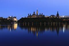 Costruzione canadese del Parlamento Fotografia Stock Libera da Diritti
