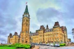 Costruzione canadese del Parlamento in Ottawa Fotografie Stock Libere da Diritti