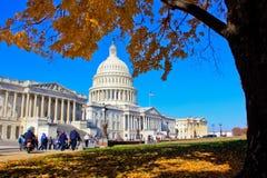 Costruzione capitala in autunno, Washington, DC degli Stati Uniti Fotografie Stock