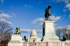 Costruzione capitale degli Stati Uniti, Washington, DC Fotografia Stock