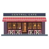 Costruzione centrale del caffè Terrazzo di estate Fotografia Stock Libera da Diritti