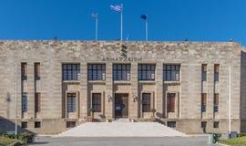 Costruzione che alloggia il comune di Rhodes Greece Fotografie Stock