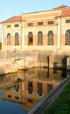 Costruzione che alloggia l'asciugamento in Bovolenta nella provincia di Padova in Veneto (Italia) Immagine Stock Libera da Diritti