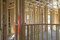 costruzione che incornicia nuovo interno Fotografia Stock