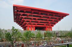 Costruzione cinese nell'Expo, Schang-Hai Fotografia Stock Libera da Diritti