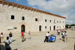 Costruzione coloniale delle case Reales di Las a Santo Domingo Immagini Stock
