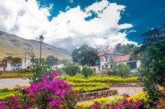 Costruzione coloniale di Villa de Leyva in Colombia fotografia stock