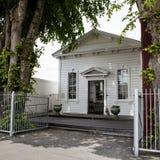 Costruzione coloniale in Greytown, Wairarapa, Nuova Zelanda Fotografia Stock Libera da Diritti