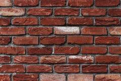Costruzione con il fondo sporco del muro di mattoni Immagini Stock Libere da Diritti