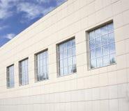 Costruzione con il rivestimento della facciata, fine su Fotografie Stock Libere da Diritti