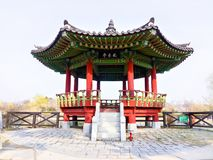 Costruzione coreana antica in Corea del Sud fotografie stock libere da diritti