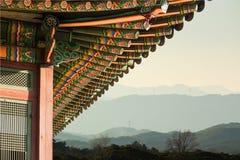 Costruzione coreana tradizionale Fotografie Stock