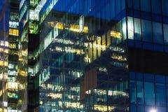 costruzione corporativa alla notte Fotografia Stock