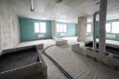 In costruzione in costruzione dell'appartamento Fotografia Stock