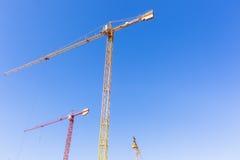 Costruzione Crane Machines Fotografia Stock
