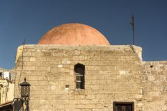 Costruzione a cupola in Rhodes Old Town Fotografia Stock Libera da Diritti