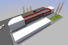 costruzione 3d Fotografia Stock Libera da Diritti