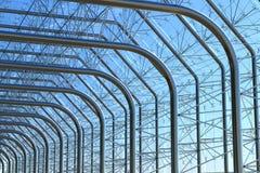 Costruzione d'acciaio della parete di vetro del metallo Fotografie Stock Libere da Diritti
