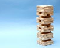 Costruzione dai blocchi di legno Fotografia Stock Libera da Diritti