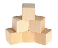 Costruzione dai cubi di legno Fotografia Stock