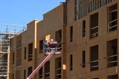Costruzione degli alloggi nuovi per gli appartamenti Fotografia Stock Libera da Diritti