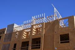 Costruzione degli alloggi nuovi per gli appartamenti Fotografia Stock