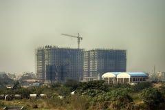 Costruzione degli edifici alti in India Fotografia Stock Libera da Diritti