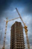 Costruzione degli edifici dell'appartamento Fotografie Stock Libere da Diritti