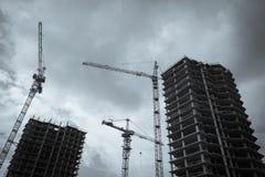 Costruzione degli edifici dell'appartamento Immagine Stock Libera da Diritti