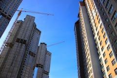 Costruzione degli edifici residenziali fotografia stock
