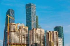 Costruzione degli edifici residenziali multipiani Immagini Stock