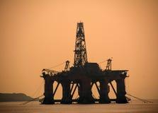 Costruzione degli impianti di perforazione del gas o del petrolio Fotografia Stock
