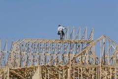 Costruzione dei carpentieri Immagine Stock Libera da Diritti