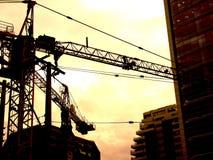 Costruzione dei carpers del cielo Fotografia Stock