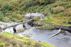 Costruzione del bacino idrico della diga Immagine Stock Libera da Diritti
